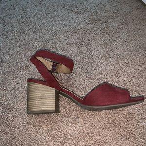 Red sandal heel